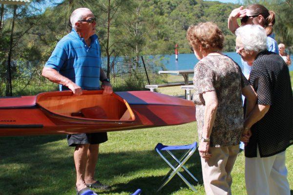 Aged canoe