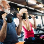 Fit mature sporty couple working out to stay healthy